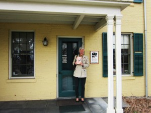 Standing outside Emily Dickinson's house