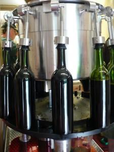 Bottles on the filler