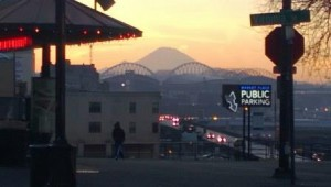 Mount Rainier, from Pike Place Market