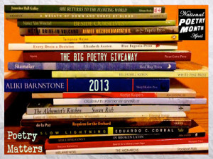 Stack of poetry books
