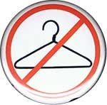 coat hanger with red circle and slash