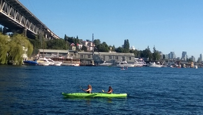 kayak on lake union
