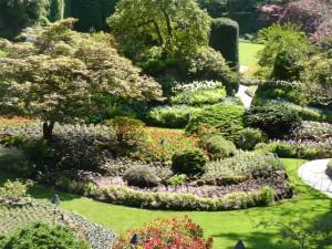 The sunken garden at Butchart Gardens in Victoria, B.C.