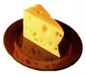 cheese on a plate; image from Office.com