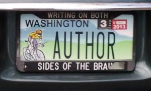 Author license plate
