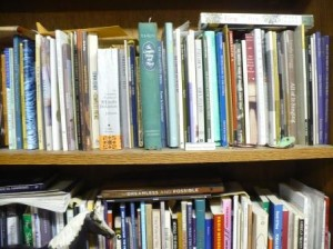 poetry books on the shelves