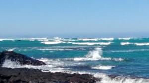 Waves in Anaeho'omalu bay
